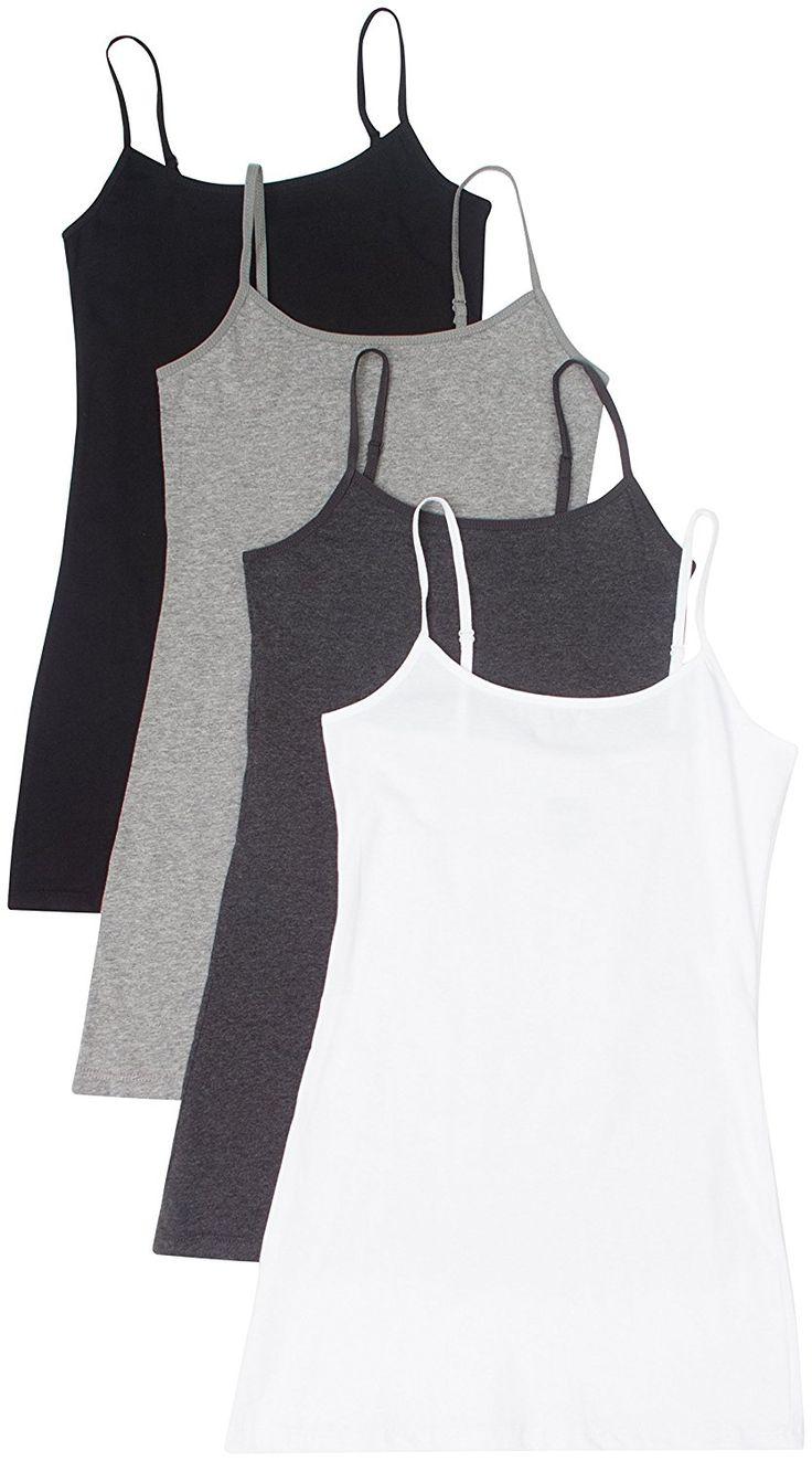 4 Pack Active Basic Women's Basic Tank Tops at Amazon Women's Clothing store: