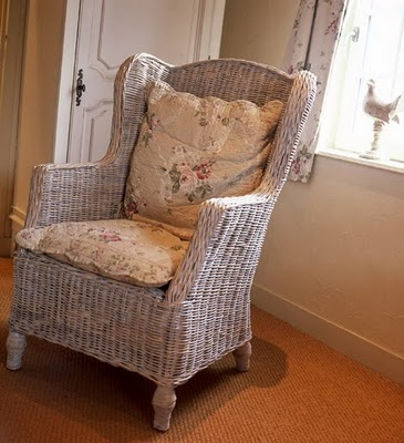 Cozy Old Wicker Chair