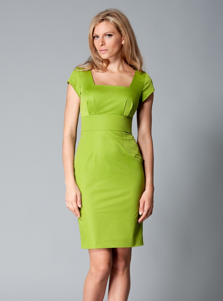 Green apple candy pencil dress | Dresses for large breasts | DDAtelier http://dd-atelier.com/Green-apple-candy-pencil-dress-for-large-breasts.html