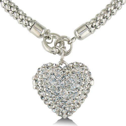 Super Shimmery #Swarovski Crystal Heart Locket $24.95