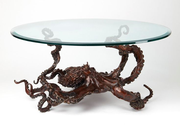 Bronze Octopus coffee table by Kirk by KirkMcGuireSculpture