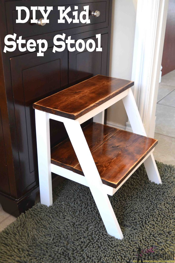 Give yourself a boost!  Build this simple DIY step stool for those hard to reach places.  Perfect kid step stool to wash hands.  #oneboardchallenge