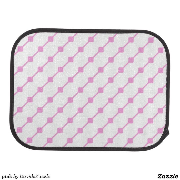 Pink Pattern Rear Car Mat  Available on many more products! Type in the name of this design in the search bar on my Zazzle products page!   #abstract #art #pattern #design #color #accessory #accent #zazzle #buy #sale #car #auto #automotive #accessory #floor #mat #accent #living #modern #chic #contemporary #style #life #lifestyle #minimal #simple #plain #minimalism #square #line #white #pink
