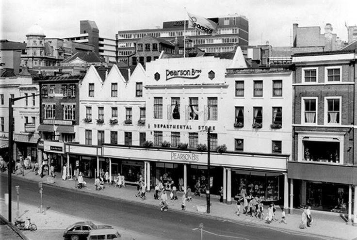 Pearsons department store on Long Row. Nottingham, c 1970s.
