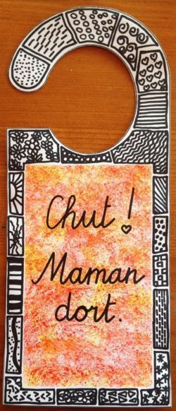 Idée cadeau fête des mères original ,- Idée cadeau fête des mères original – Pancarte de porte