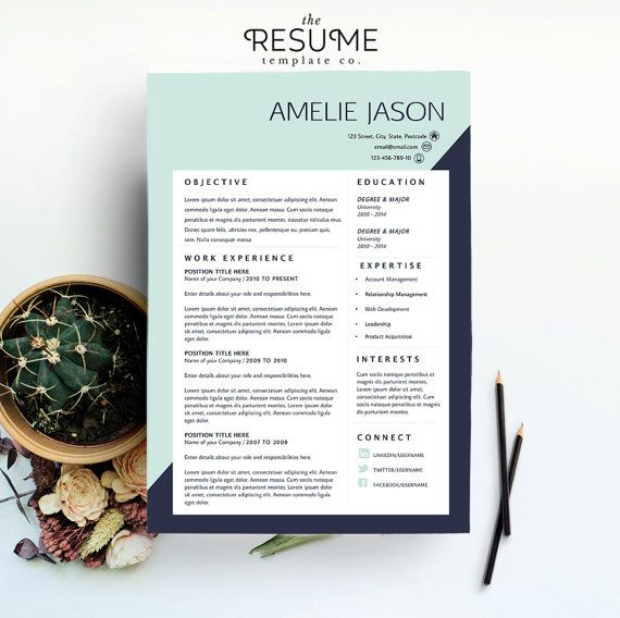 Resume Template / CV Template & Cover Letter Package  by TheResumeTemplateCo