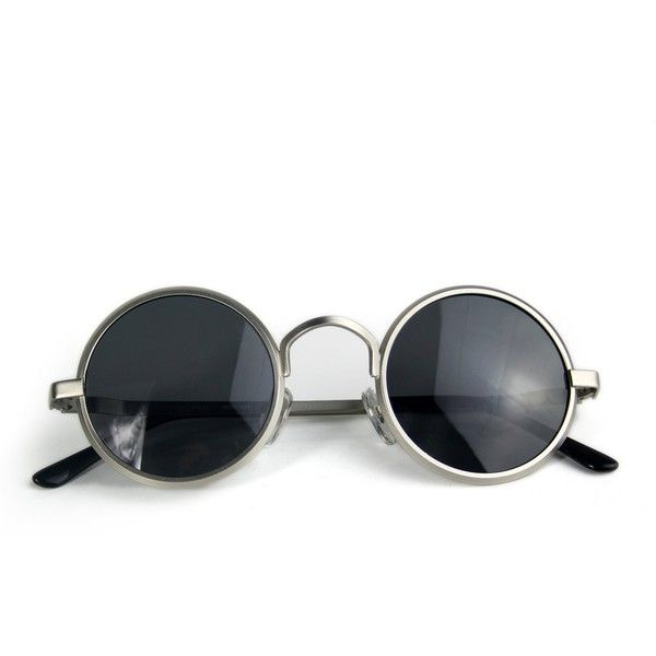 Black Minimal Rounded Lens Sunglasses Pretty Little Thing XoQiCkrChK