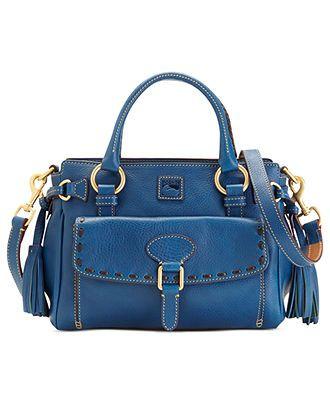 Dooney & Bourke Handbag, Florentine Vachetta Medium Pocket Satchel  /// I have this bag..it is gorgeous! ///