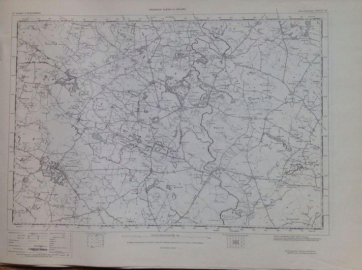 Ordnance Survey Map Ballymahon Ireland One Inch Flat 1900 Version Cartography
