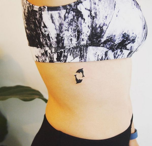 small dolphin tattoo #ink #youqueen #girly #tattoos #dolphin @youqueen