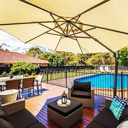 I don't like cricket... oh no... I love it!  Summer fun complete with cricket pitch! 22 Killara Court #Werribee Web ID 11004113252  Credit to @snapmediagroup  for the pic #localhomestaging #homestaging #homestyling #styling #staging #pool #summer #cricket #cricket pitch #aussie #australia #backyard #bbq #wyndham #realestatephotography #realestatemarketing #realestate