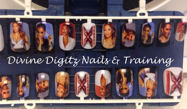 Mel B inspired selfie nails #divinedigitz #printanything #inailz #melb #cool