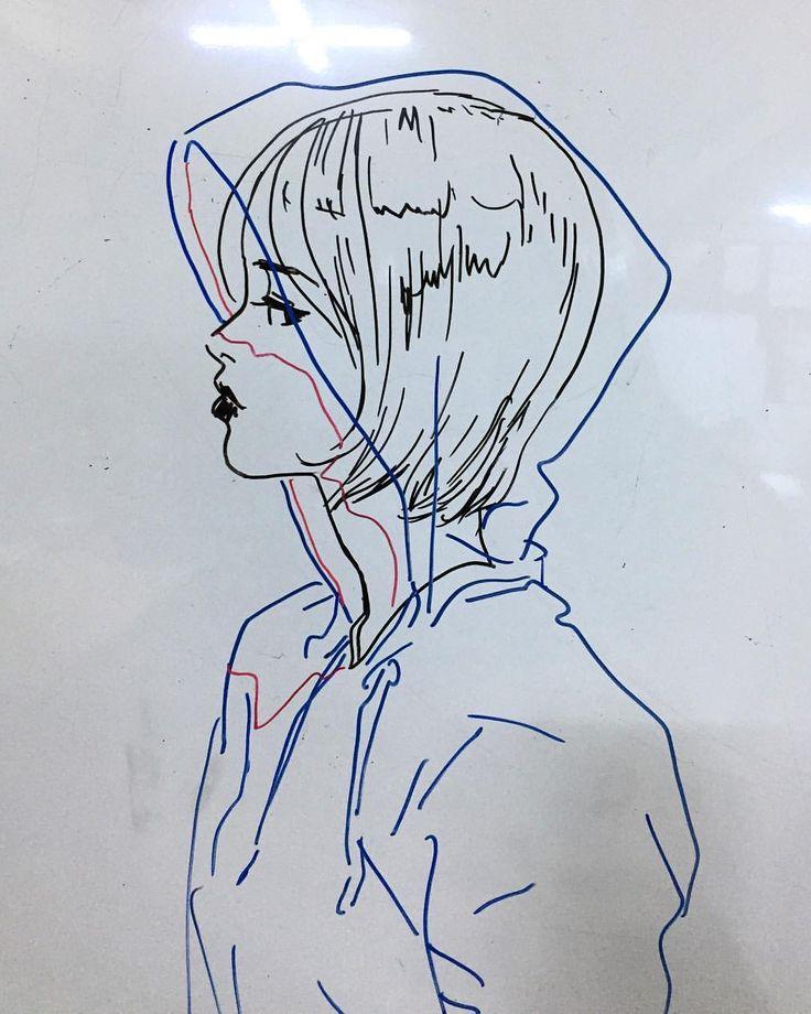 876 отметок «Нравится», 5 комментариев — Jisu (@miss.jisu) в Instagram: «후디 #여자잘그리는법 #boardmarker on #whiteboard #화이트보드»