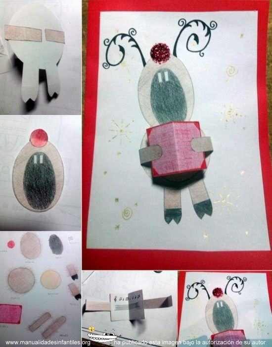 Pin De Manualidades Infantiles En Navidad Pinterest Tarjeta - Tarjeta-navidea-original