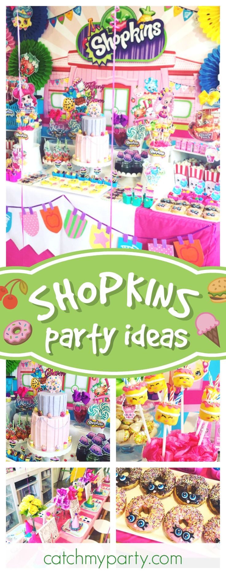 Check out this gorgeous Shopkins birthday party! The birthday cake is awesome!! See more party ideas and share yours at CatchMyParty.com