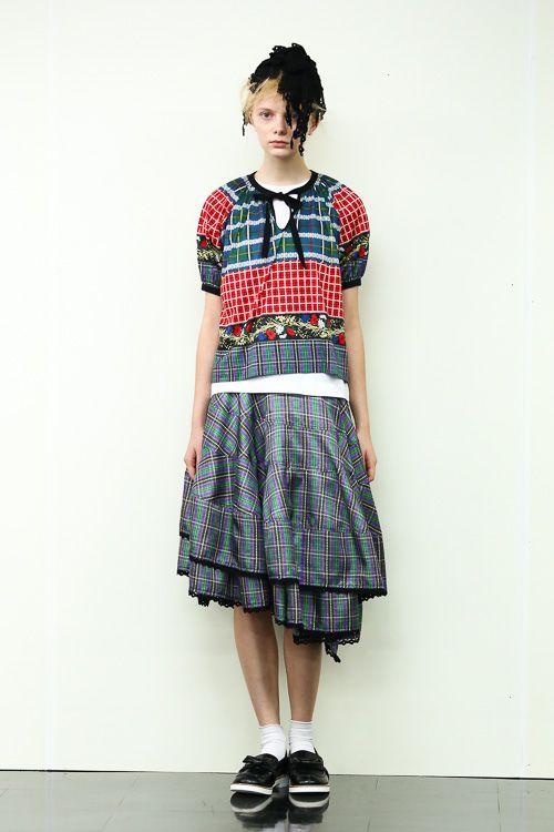 tricot COMME des GARÇONS 2014SS スカートの裾