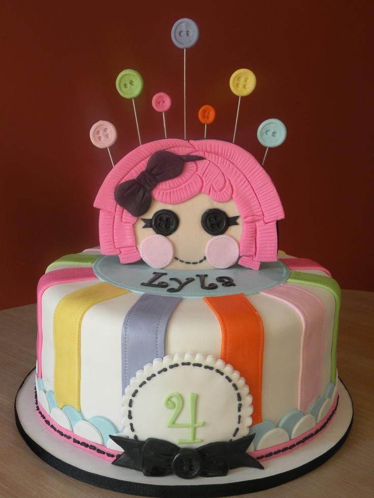 Lalaloopsy cake  Cake Chicks cakes  Pinterest  Lalaloopsy, Buttons ...