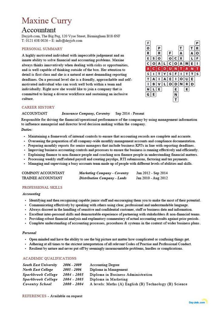 accountant crossword resume template cv doc financial