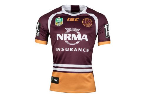 ISC Brisbane Broncos NRL 2018 Home S/S Rugby Shirt, £60.00
