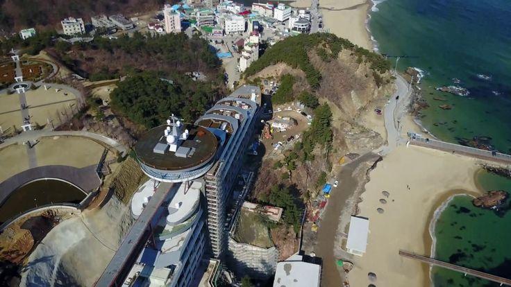 Sun Cruise Hotel on a hill at Jeongdongjin
