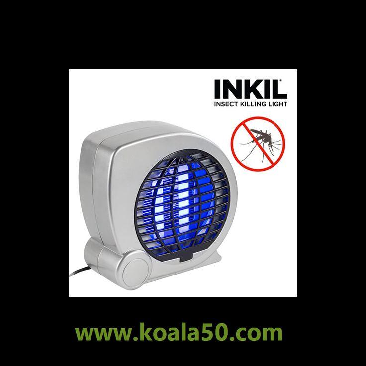 Lámpara Antimosquitos Inkil T1100 - 16,88 €   La lámpara antimosquitos Inkil T1100 es un aparato muy cómodo. La luz UVA atrae a los insectos voladores y la rejilla eléctrica les suelta una descarga en cuanto la tocan. Ya verás qué rápido...  http://www.koala50.com/ahuyentadores/lampara-antimosquitos-inkil-t1100
