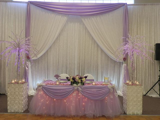 Platinum Package-Lavender Fantasy Table Skirt(R) patented by SBD Events | Flickr - Photo Sharing!