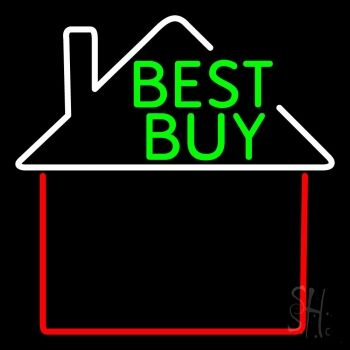 Real Estate Best Buy House Logo Neon Sign