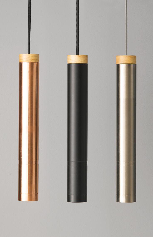 Ledlux Piper Large Dimmable Pendant In Copper Black Or Chrome With Ashwood Detail Pendant Light Interior Design Interior Lighting Bedside Lighting