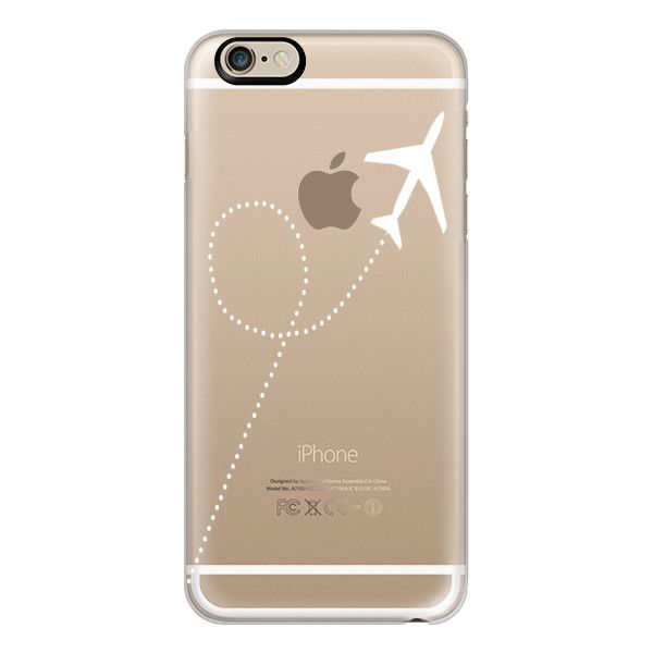 iPhone 6 Plus/6/5/5s/5c Case - Travel #1 White Transparent ($40) ❤ liked on Polyvore