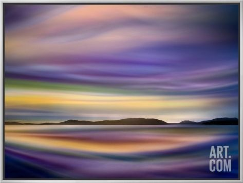 Coastlines Framed Canvas Print by Ursula Abresch at Art.com