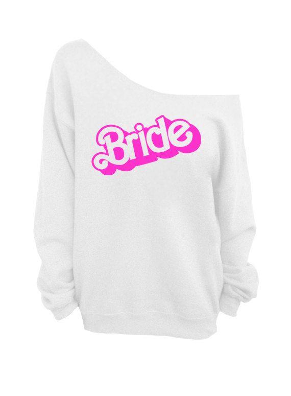 Bride - Barbie font - Adorable for bridal party escapades.  Same designer also has bridesmaid, maid of honor, etc.  Dentz Design on etsy