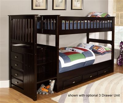 Espresso 2914 Stair Stepper Bunk Bed | Bed Frames | Discovery World Furniture