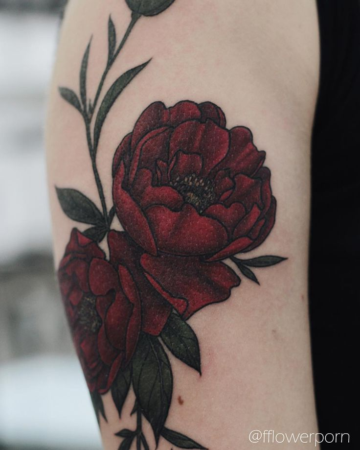 25 best ideas about flower tattoos on pinterest for Red flower tattoo