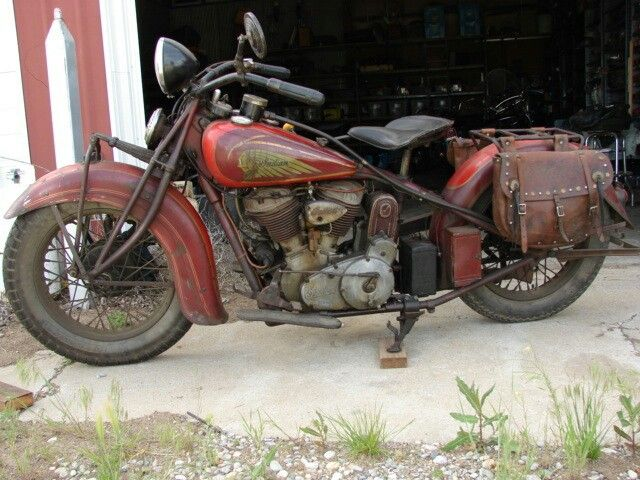 Indian Chief 1936 Original Paint ColorsChinese Red