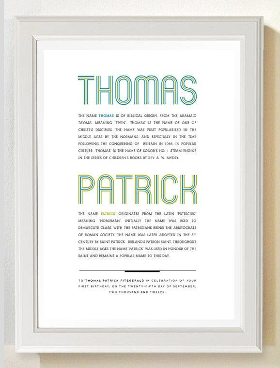 Name Poster. Meaning & Origin. Custom. 8 x 11. New baby. Christening. Naming day. 1st birthday.. £9.75, via Etsy.