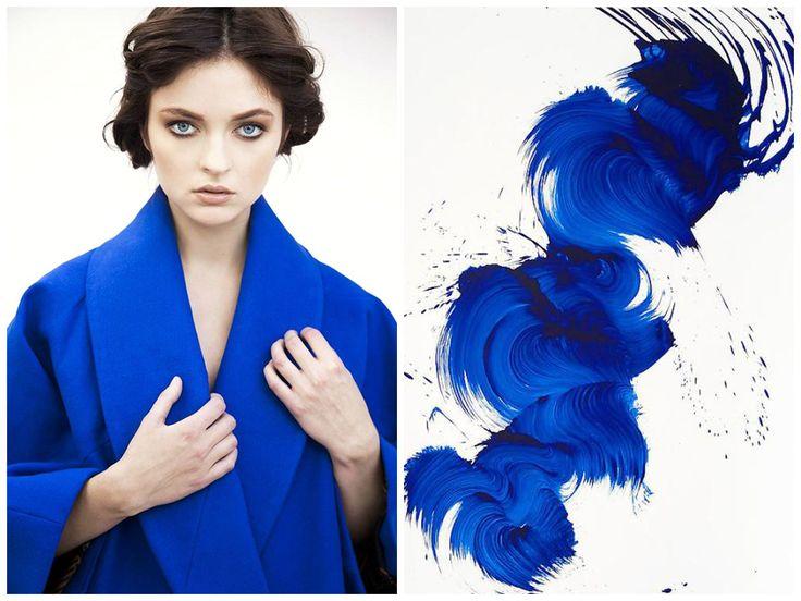Inspiration behind Elena Ciuprina Spring 2015 collection.James Nares art.