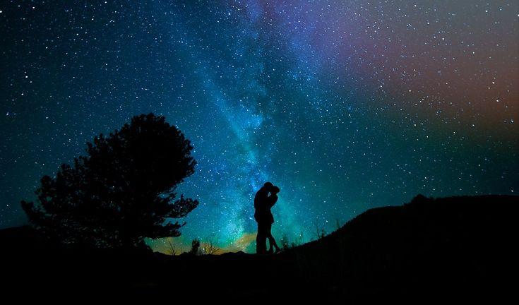 Mennesker, Kærlighed Par, Nattehimlen, Sternenhimmel