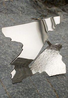 """Steel brooch - """"2000"""" by Roberto Lanaro BUY IT NOW ON www.dezzy.it!"""