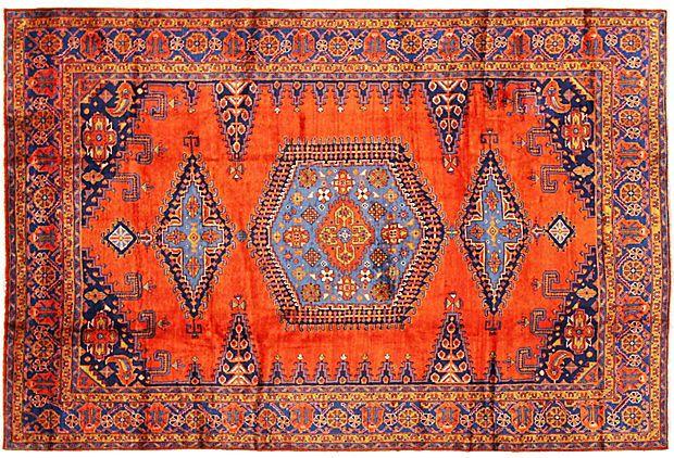 Blue and Orange Persian Rug