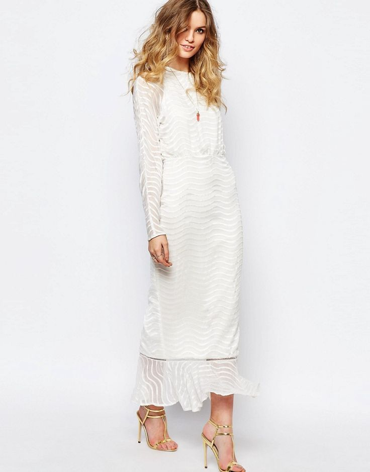 Image 1 of Stevie May Clear Array Maxi Dress in White
