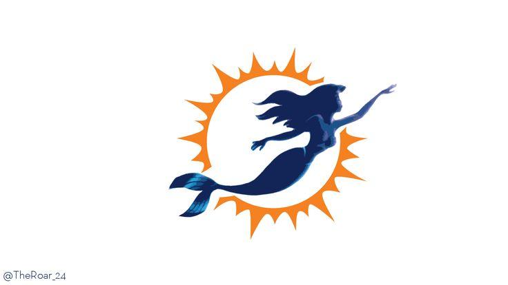 Ariel as the Miami Dolphins logo lol