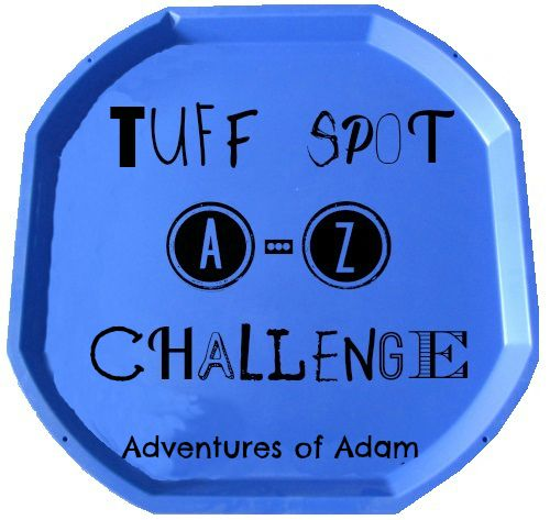 Here are 75 Tuff Spot play ideas to get your creative juices flowing for the Tuff Spot A-Z Challenge. The activities are either taken from our Adventures of