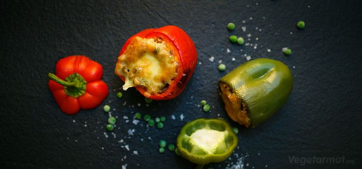 Fylte paprika - Vegetarmat.org