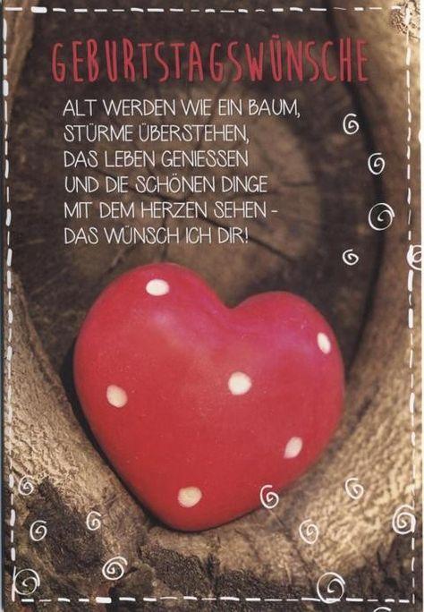 """Geburtstagskarte Geburtstagswünsche """"Alt werden wie ein Baum"""