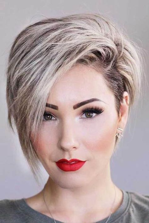 17 More Fresh Layered Short Hairstyles For Round Faces Makeup