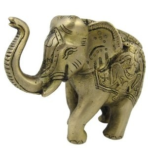 Décor Elephant Statue Sculpture Metal with Symbols of Hinduism: Amazon.co.uk: Kitchen & Home
