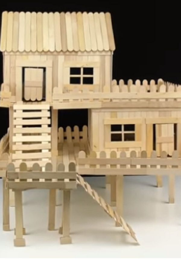How To Make Popsicle Stick House For Rat Video Popsicle Stick