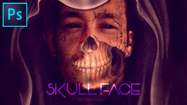 Efecto Skull Face con #Photoshop -  #Tutorial #Halloween by @photoshopst...