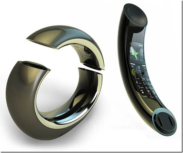 It's not exactly reinventing the wheel, but this stylish home phone connects the handset and the base in one continuous ellipsoidal sexy shape.
