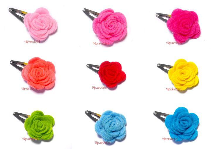 Vilten rozen knipjes